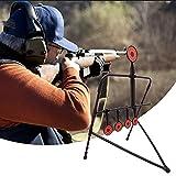 4YANG Airsoft Swinging Target Self Reset, BB Pellets Trap Pistola de Aire comprimido de Metal, Rifle y Pistola Práctica de Tiro en Interiores y Exteriores