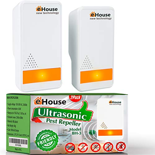 BH-3 Ultrasonic Pest Repeller - (2 Pack) Electronic Plug in Best Repellent - Pest...