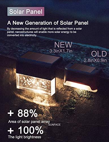 Solar Deck Lights Fence Post Lights Outdoor Lighting Garden Decorative - Permanent On All Night (6Pack)