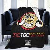 huatongxin Rich The Kid Tic TOC Ultra-Soft Micro Fleece Warm Throw Manta Travel Manta All Season Premium Bed Manta 50'' X40