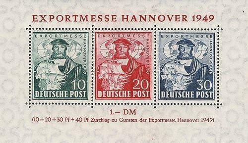 Goldhahn Alliierte Besetzung Block 1c postfrisch  mit Befund Briefmarken für Sammler