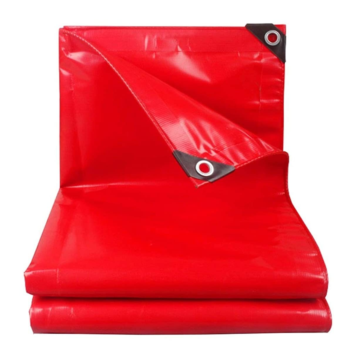 Tarp 100% Waterproof Tarpaulin Heavy Duty Tarp Ground Sheet Cover Car Boat Roof Rain Cover Camping Trailer Tent Red Pool Cover (Size : 4mx5m)