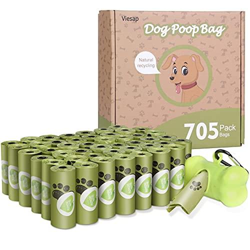 Viesap Bolsas Caca Perro, 705Pcs Bolsas Para Excrementos De Perro Con Dispensador, Gruesas Bolsas Perro Poop Bag Para Mascotas Domésticos, Fuertes Poop Bag Para Perro Mascotas, Verde Bolsa Caca Perro.