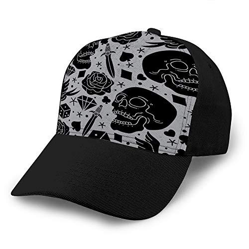 dsgdfhfgjghcdvdf Gorras de béisbol, Sombreros Militares, Sombreros de papá para el día del Padre, patrón de Regalo de acción de Gracias, Tatuaje de Terror, Gorra Simple