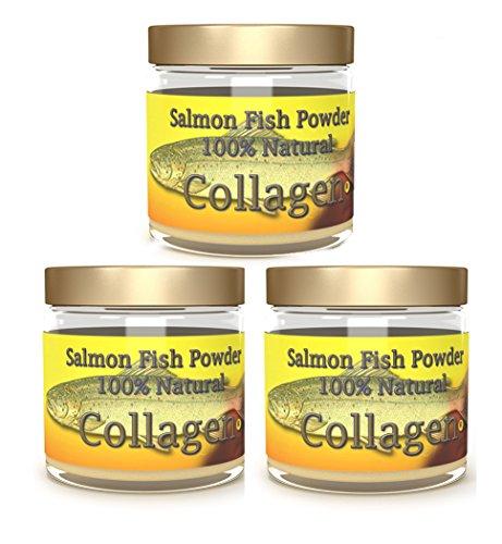 Salcoll Collagen - 100% Natural Bioactive Marine Collagen Powder - Unflavored, Kosher, can Help Bone, Joint, Skin, Hair Health, 3 Pack, Three Month Supply
