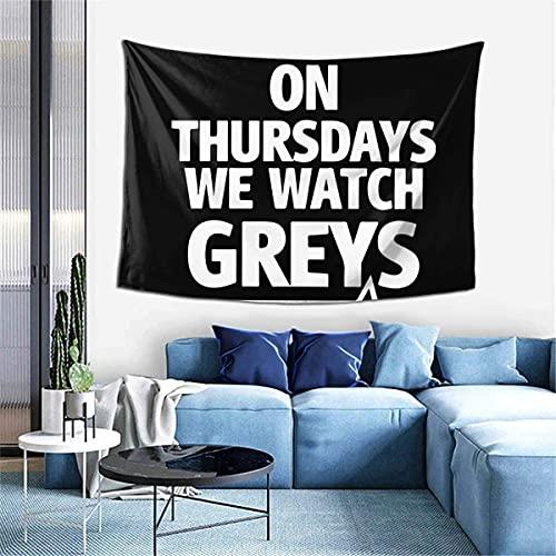"""Wandteppich, Wandbehang """"On Thursdays We Watch Greys"""", für Herren, 152,4 x 101,6 cm"""