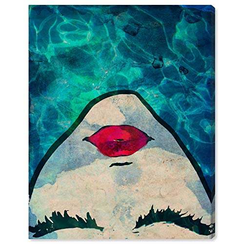 The Oliver Gal Artist Co. Fashion and Glam Wall Art Canvas Prints 'Water coveted' Deko für zu Hause, Blau/Rot, 20