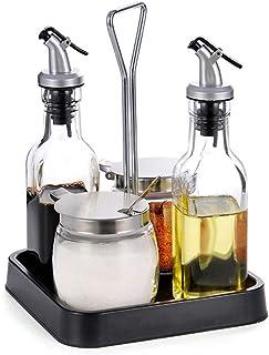 HIZLJJ Frascos de Vidrio de Gran tamaño Botella de condimento Frasco de Aceite de Vidrio Hogar