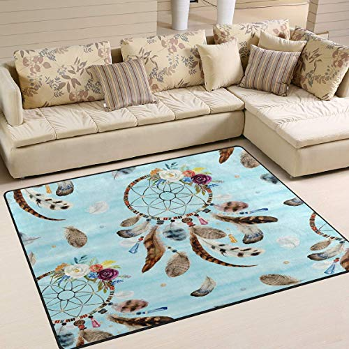 Tapijt Dreamcatcher Feather Flower Aztec Ethnic 80 x 58 inch 80x58 Inch Image 2549