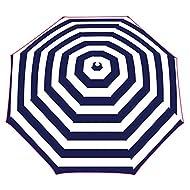 Yello Parasol UV40 1.6 m Sun Shade Protection for Beach, Garden - Blue Stripe