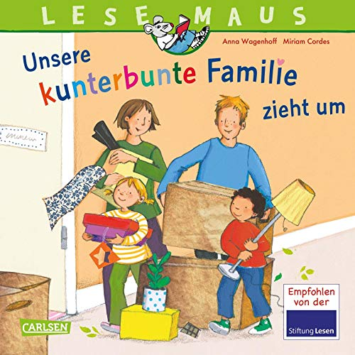 LESEMAUS 171: Unsere kunterbunte Familie zieht um: Eine Bilderbuch-Geschichte über das Leben in einer Patchwork-Familie (171)
