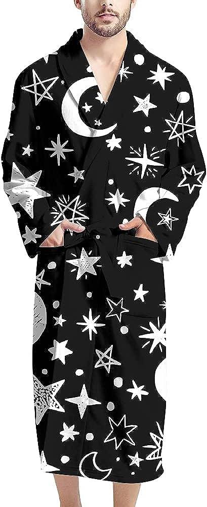 FUIBENG free shipping Men Bathrobe specialty shop Warm Comfy Lightweigh Sleepwear Long Sleeve