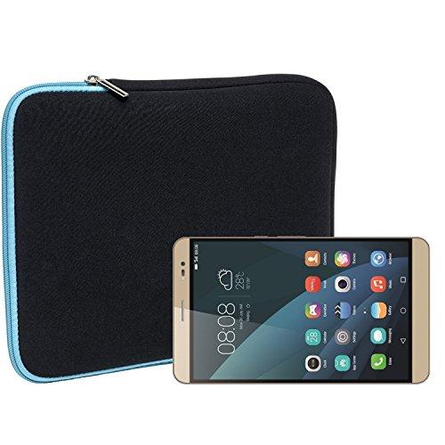 Slabo Tablet Tasche Schutzhülle für Huawei MediaPad X2 Hülle Etui Hülle Phablet aus Neopren – TÜRKIS/SCHWARZ