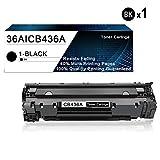 1 Pack Black 36A | CB436A Compatible Toner Cartridge Replacement for HP Laserjet M1522n MFP M1523nf MF M1120 MFP P1505 P150n Printers Toner Cartridge.