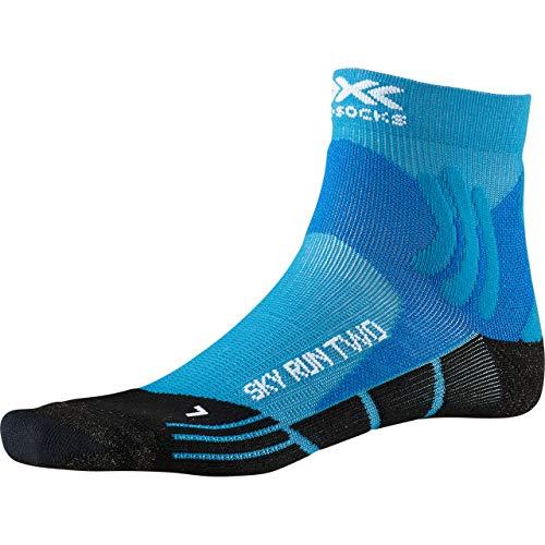 X-Socks Sky Run Two Socks, Unisex Adulto, Teal Blue/Opal Black, 35-38