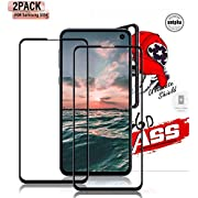 Gozhu [2-Pack] for Galaxy S10e Screen Protector Tempered Glass,[Anti-Fingerprint][No-Bubble][Scratch-Resistant] Glass Screen Protector for Samsung Galaxy S10e Black