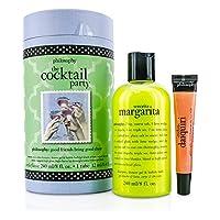 フィロソフィー The Cocktail Party Set: Senorita Margarita Shampoo, Shower Gel & Bubble Bath 240ml + Melon Daiquiri Lip Shine 12ml 2pcs
