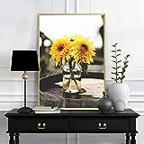 Girasol pintura moderna decoración del hogar HD impresión cartel sala de estar en lienzo arte de la pared decoración de la imagen (sin marco) A2 30x40CM