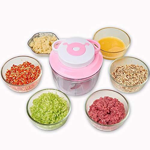 BLENDER RDJSHOP Cuisine Pull String Manuel Hachoir/Trancheuse De Légumes/Trancheuse/Hachoir - À Cho Fruits Légumes Noix Herbes Oignons Garlics (Color : Pink)