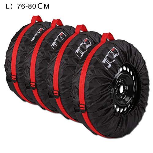 Rubyu 4 Fundas Protectoras para neumáticos de Coche, Resistentes al Agua, protección Solar, Bolsillos para neumáticos, 190T 210T, tafetán de poliéster cifrado, para neumáticos de Invierno y Verano