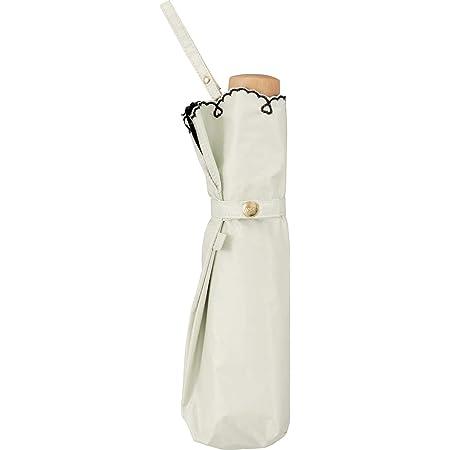 ワールドパーティー(Wpc.)日傘折りたたみ傘レディース傘袋付き遮光軽量ハートスカラップ50cm801-2448OF 白 サイズ:25×4×4cm