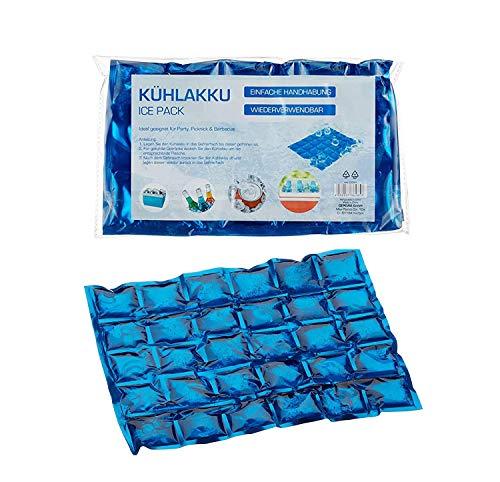 Acumulador de frío flexible bolsa refrigerante para camping Iceakku, 1 juego de 12 acumuladores de frío.
