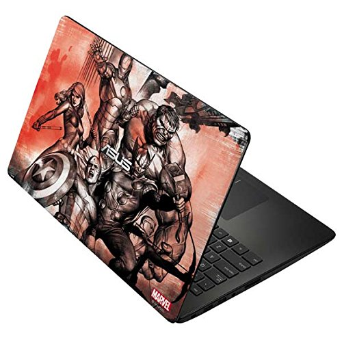 Skinit Decal Laptop Skin for Asus X502CA 15.6 - Officially Licensed Marvel/Disney Avengers Assemble Sketch Design
