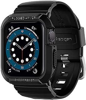 Spigen ACS00546 Rugged Armor Pro Designed for Apple Watch Case for 40mm Series 6/SE/5/4- Black