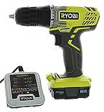 """Ryobi HJP004L 3/8"""" 12 Volt Drill / Driver Kit (3 Piece Bundle Including: 1 x HJP003 Drill / Driver,..."""