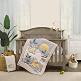 Disney Lion King Leader of The Pack Grey, Sage, Ivory & Yellow 3Piece Nursery Crib Bedding Set - Comforter, Fitted Crib Sheet, & Crib Skirt, Grey, Sage, Ivory, Yellow