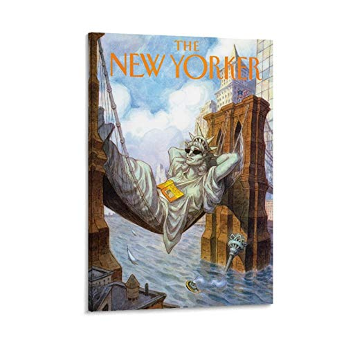MAIDING Vintage Poster Statue of Liberty New Yorker Poster Decorative Painting Canvas Wall Art Living Room Posters Bedroom Painting 12x18inch(30x45cm)