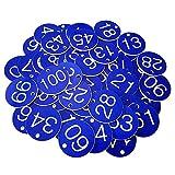 aoory Numeriert Kennzeichnungsmarken Textmarken Zahlenmarken Schlüsselmarken 1 Bis 100 Blau 100 STK