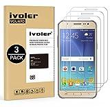 ivoler [3 Unidades] Protector de Pantalla Compatible con Samsung Galaxy J5 2015, Cristal Vidrio Templado Premium [Dureza 9H] [Anti-Arañazos] [Sin Burbujas]