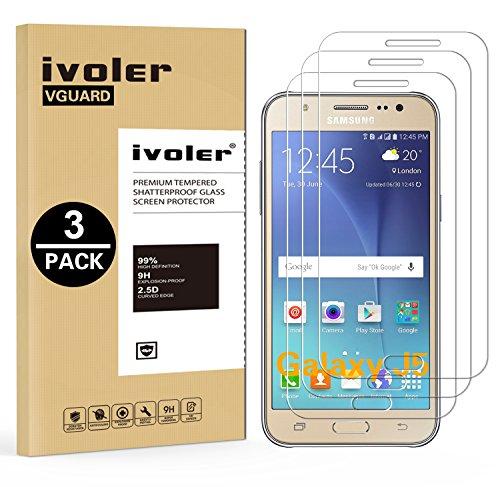 ivoler [3 Unidades] Protector de Pantalla Compatible con Samsung Galaxy J5 2015,...