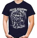 Police Academy Männer und Herren T-Shirt | Film Fun ||| M2 (XXL, Navy)