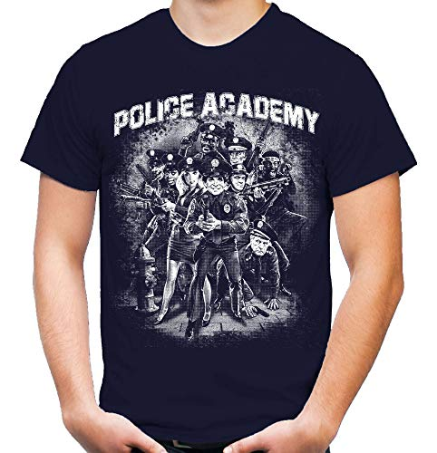 Police Academy Männer und Herren T-Shirt | Film Fun ||| M2 (L, Navy)