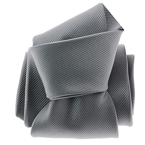 Clj Charles Le Jeune. Cravate. Monochrome, Microfibre. Gris, Uni.