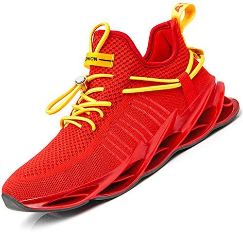 Damyuan Scarpe da Fitness Uomo Casual Jogging Trekking Trail Running Ginnastica Palestra Sportive Sneakers 41 (Rosso)