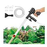 Limpiador de Grava para Acuarios con Botón de Presión de Aire, Kit de Vacío para Pecera, Herramienta para Cambiar Agua y Limpiar Arena