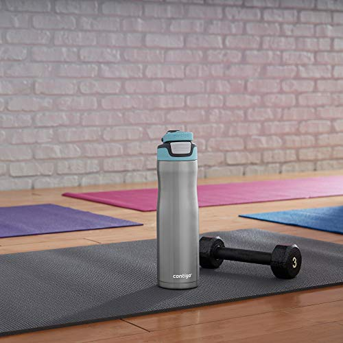 Contigo AUTOSEAL Chill Stainless Steel Water Bottle, 24oz, Iced Aqua