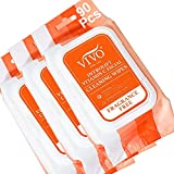 Introlift Vitamin C Makeup Remover Wipes - Fragrance Free Makeup Wipes for Face and Neck - Facial Cleansing Wipes with Aloe Vera and Vitamin E and C - Makeup Removing Wipes for Travel - 90 Count