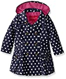 London Fog Baby Girls' Lightweight Polka Dot Trench Coat, Navy, 12 Months