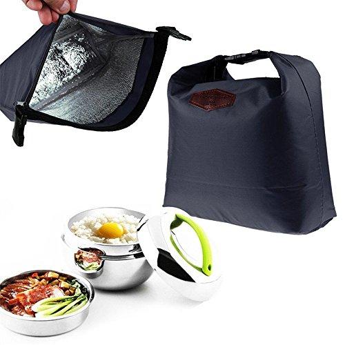 Ducomi Foodie - Borsa Termica per Cibo e Alimenti con Cerniera e Maniglie - Ideale per Pranzo al Sacco e Fuori Casa - Dimensioni: 30 x 20 x 10 cm (Navy)