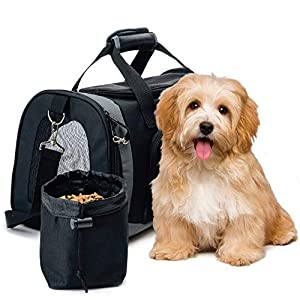 Gorilla Grip Premium Pet Cat Carrier for Cats or Small Dogs, TSA Approved, for Animals Up to 15lbs, Soft Sided Collapsible Travel Bag for Puppy Dog or Kitty, Comfortable Carry for Airport Traveling