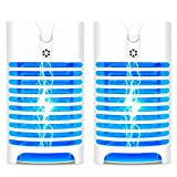 2 Pack Bug Zapper Indoor Plug in, Electric Mosquito Zapper Lamp for Home, Mosqutio Trap and Insect Killer Eliminates Flying Pests