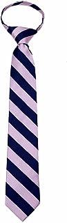 Sponsored Ad - Boys Zipper Repp Stripe College Printed Necktie Ties