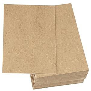 Tablero de madera de MDF, tablero de fibra de densidad media, tablero de madera dura (6 x 8 x 0,2 cm, marrón, paquete de 30 unidades)