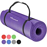 REEHUT Exercise Mat NBR Fitness Yoga Mats - 12mm Extra Thick High-Density Multi-Purpose