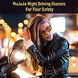 MuJaJa Night-Driving Glasses HD Polarized Night-Vision Glasses, Anti Glare Clear Vision Glasses for Women Men Driving Nighttime (Black Frame/ Night-Vision Glasses)