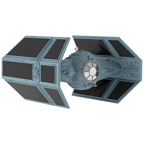 2017 Hallmark Star Wars Darth Vader's TIE Fighter Sound Ornament With Light
